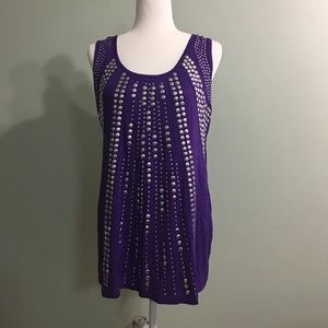 Purple studded top